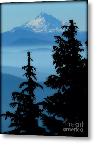 Blue Yonder Mountain Metal Print