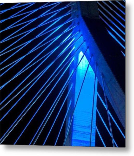 Blue Zakim....boston Ma.  #alemy Metal Print