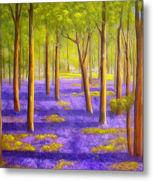 Bluebell Wood Metal Print by Heather Matthews