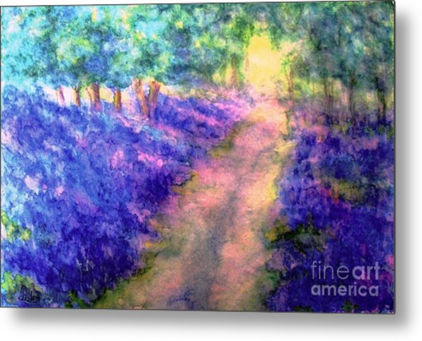 Bluebell Woods Metal Print