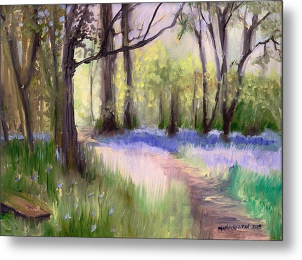 Bluebells At Dusk Metal Print