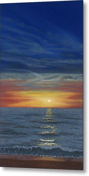 Blueberry Beach Sunset Metal Print