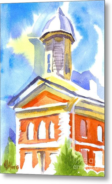 Blueberry Courthouse Metal Print