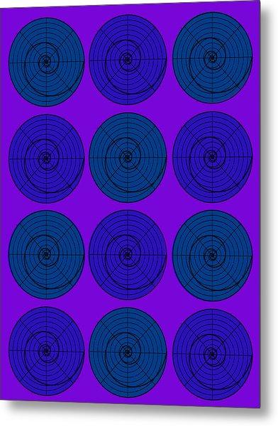 Blueberry Orb Circle Bubble Pop A La After Warhol  Metal Print
