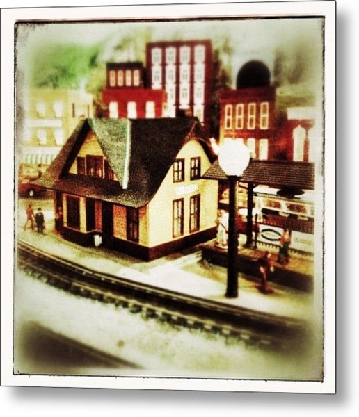 Bluefield Train Station In Miniature At Metal Print