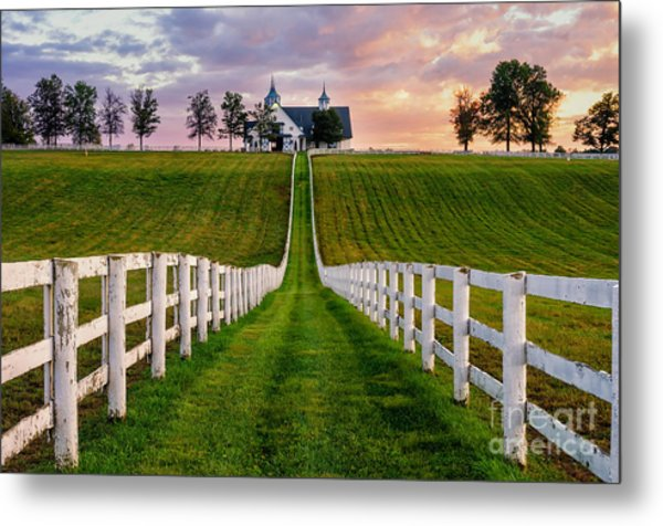 Bluegrass Farm Metal Print
