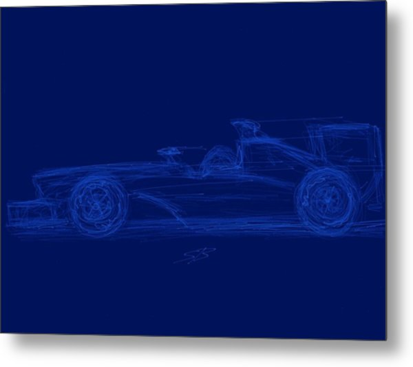 Blueprint For Speed Metal Print