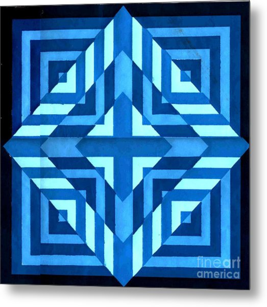 Bluer Than Blue Metal Print by Dave Atkins