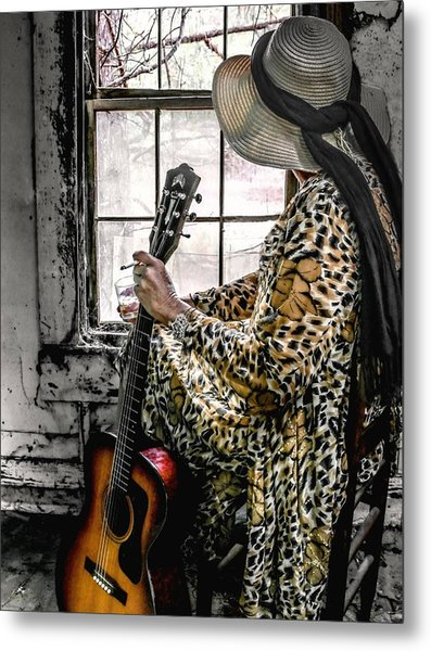 Blues Broad Color Metal Print by EG Kight