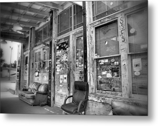 Blues Club In Black And White Metal Print