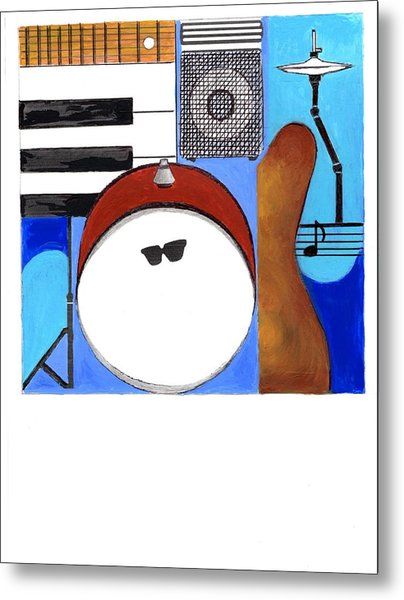 Blues Concept 1 Metal Print