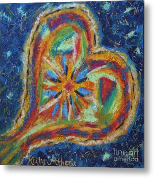 Blues Heart Metal Print by Kelly Athena