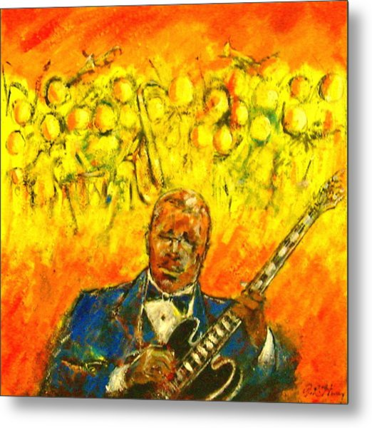 Blues Man Metal Print by Aaron Harvey