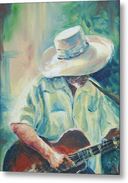 Blues Man Metal Print