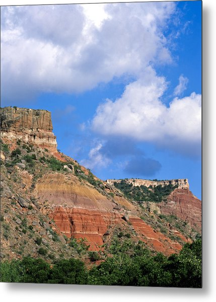 Bluffs In The Glass Mountains Metal Print