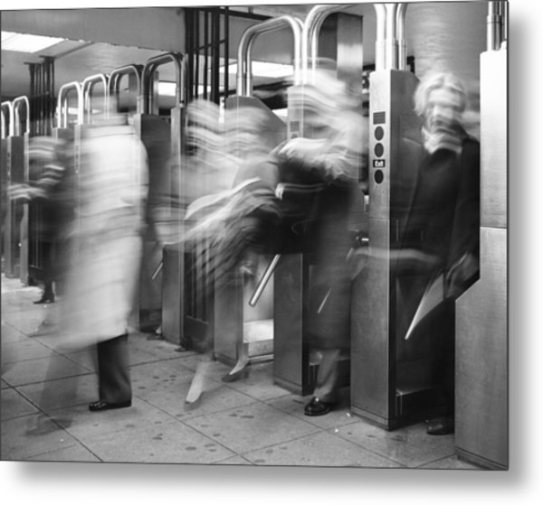 Metal Print featuring the photograph Blurred In Turnstile by Dave Beckerman