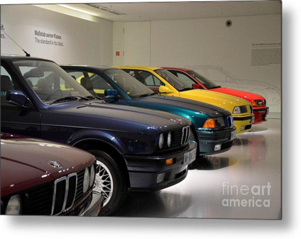Bmw Cars Through The Years Munich Germany Metal Print