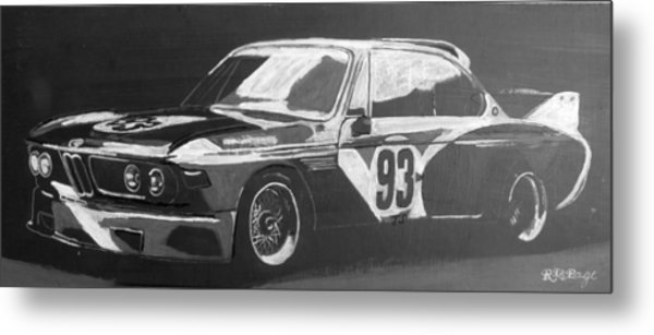 Bmw 3.0 Csl Alexander Calder Art Car Metal Print