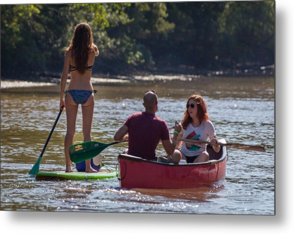 Board And Canoe In Vermillionville Boat Parade Metal Print