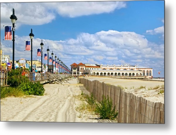 Boardwalk And Music Pier Metal Print