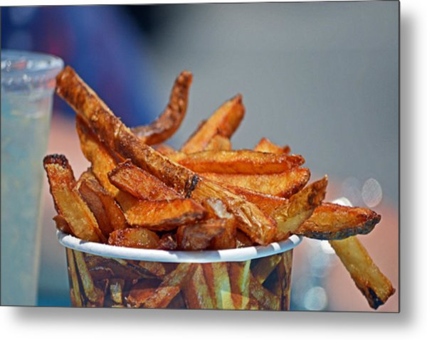 French Fries On The Boards Metal Print