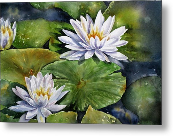 Boardwalk Lilies Metal Print