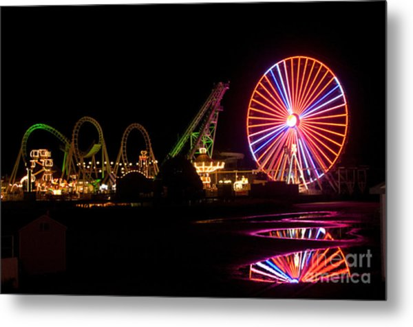 Boardwalk Night Metal Print