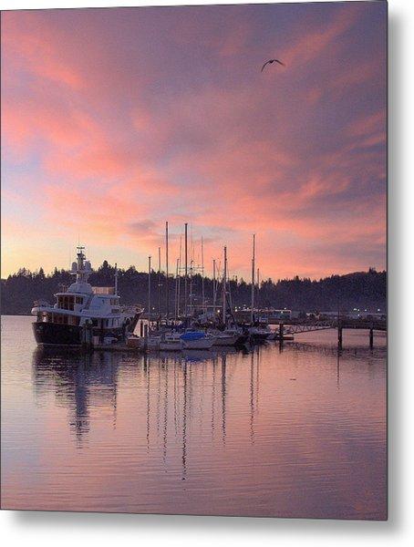 Boardwalk Sunrise Metal Print