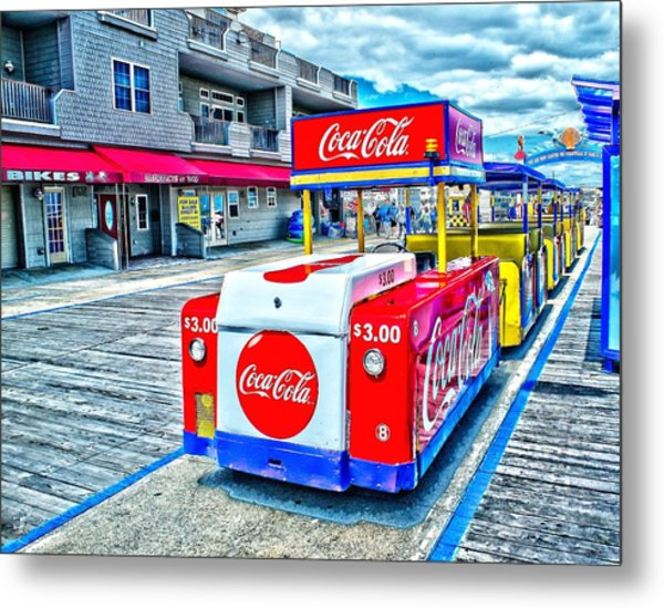 Boardwalk Tram  Metal Print