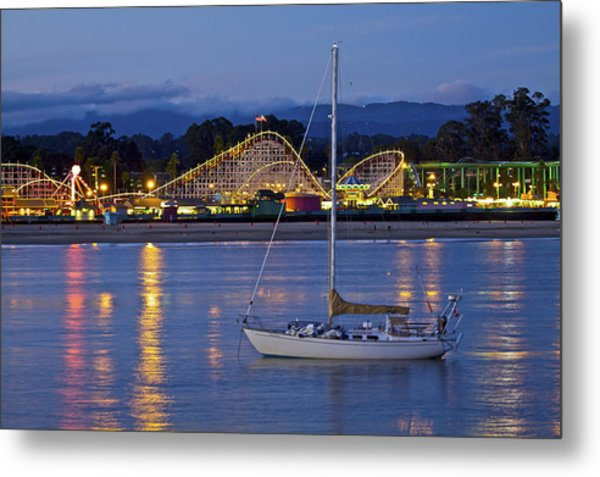 Boat At Twilight Metal Print