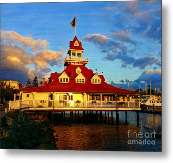 Metal Print featuring the mixed media Boat House 1887 by Glenn McNary