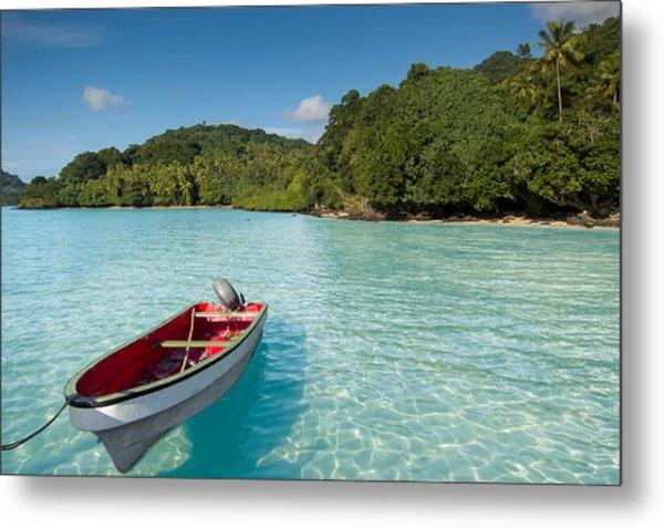 Boat In Lagoon Metal Print