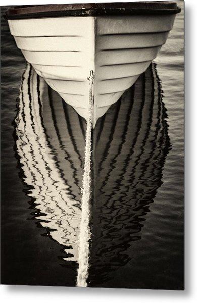 Boat Mirrored Metal Print