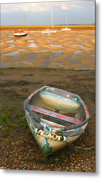Boat Of Many Colours Metal Print