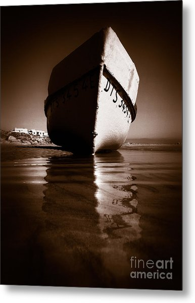 Boat On A Beach Metal Print