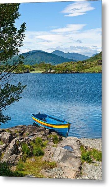 Boat On Upper Lake Killarney Metal Print