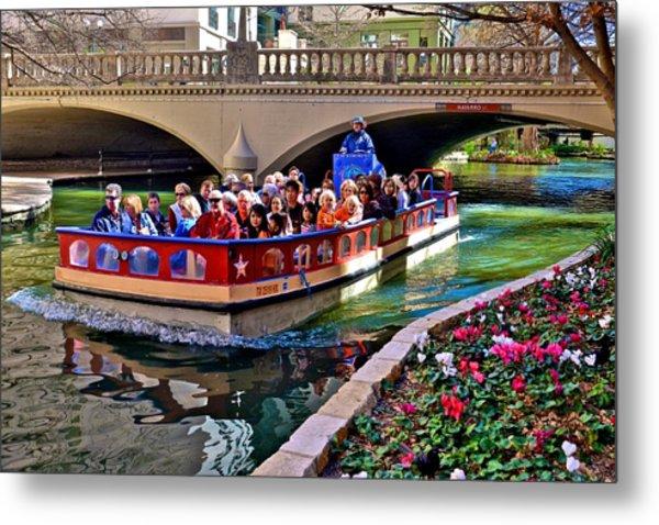 Boat Ride At The Riverwalk Metal Print