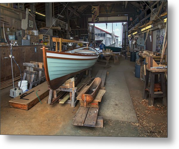 Boat Shop Metal Print