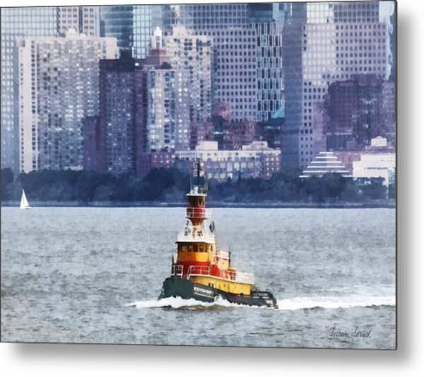 Boat - Tugboat By Manhattan Skyline Metal Print