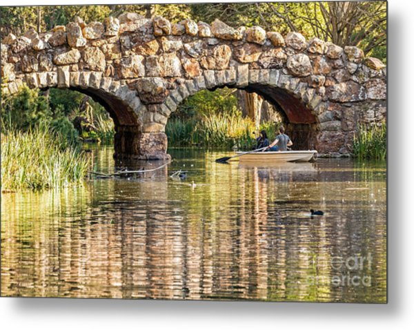 Metal Print featuring the photograph Boaters Under The Bridge by Kate Brown