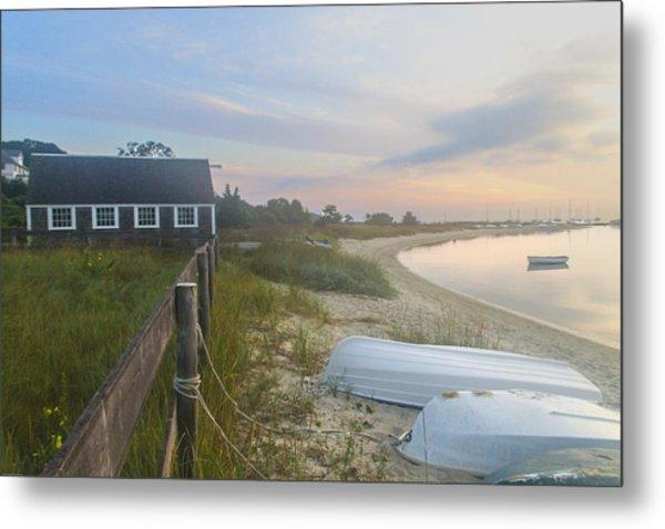 Boathouse At Dawn Metal Print