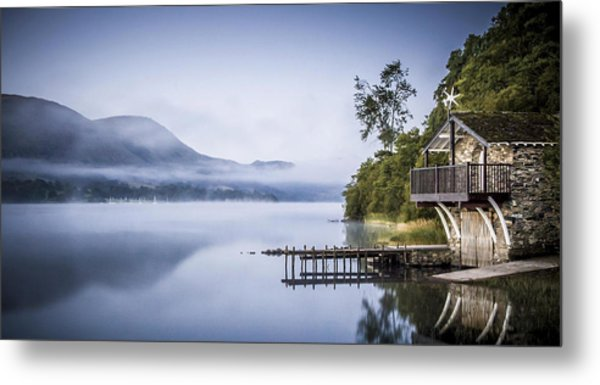 Boathouse At Pooley Bridge Metal Print