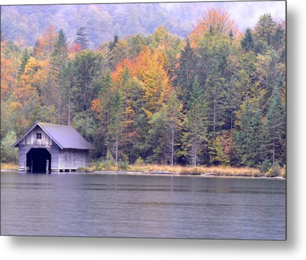 Boathouse On The Koenigsee Metal Print
