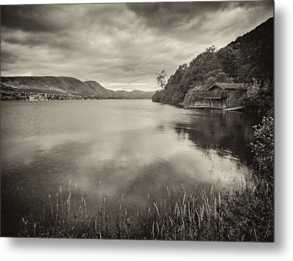Boathouse Ullswater Metal Print by Graham Moore