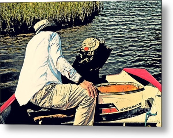 Boating On The Bay Metal Print by Scott Allison
