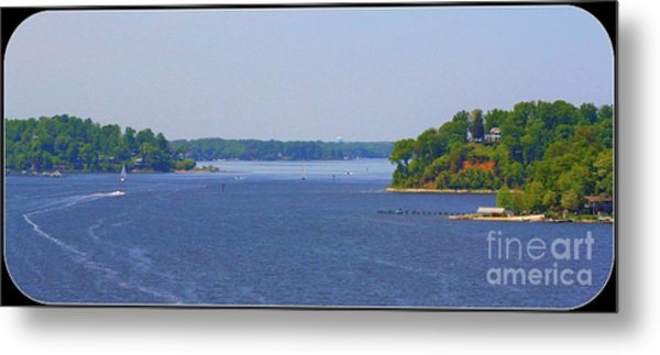 Boating On The Severn River Metal Print