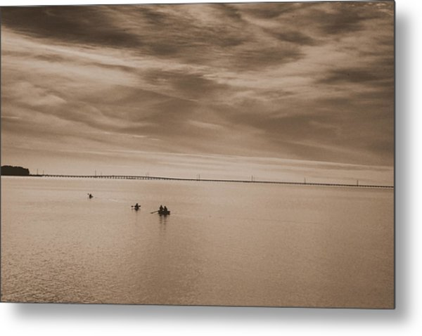 Boating On The Sound  Metal Print
