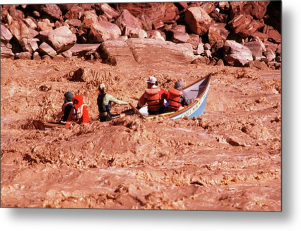 Boating The Colorado Metal Print by Jim West