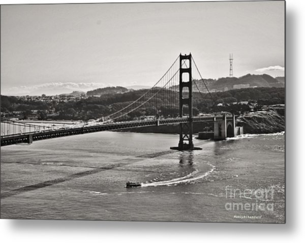 Boating Under The Golden Gate Metal Print
