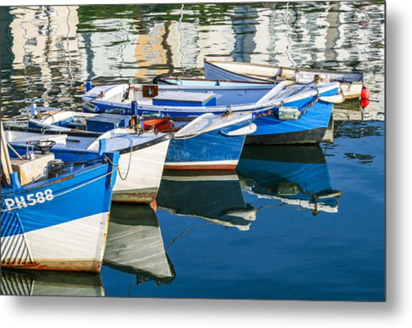 Boats At Anchor Metal Print